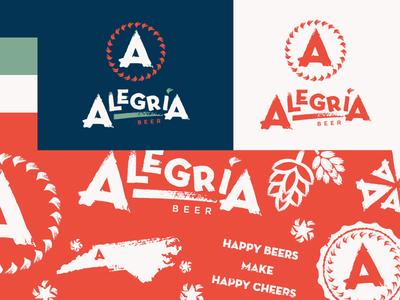 Alegria Beer Brand Elements