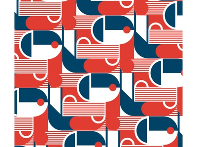 Monday Shapes 19 pattern abstract illustration design