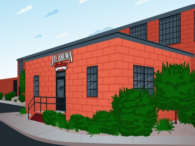 Realtor Office Building design illustration