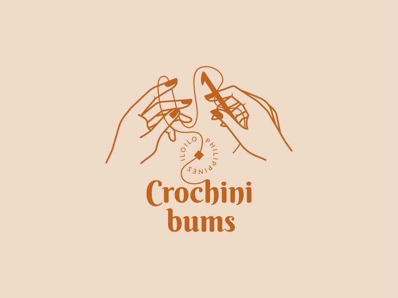 Crochinibums Logo Design crochet elegant illustration branding brand logo
