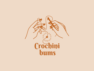 Crochinibums Logo Design crochet elegant illustration branding brand logo