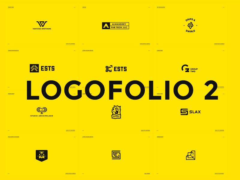 Logofolio 2 black  white logofolio logos logo collection logo set