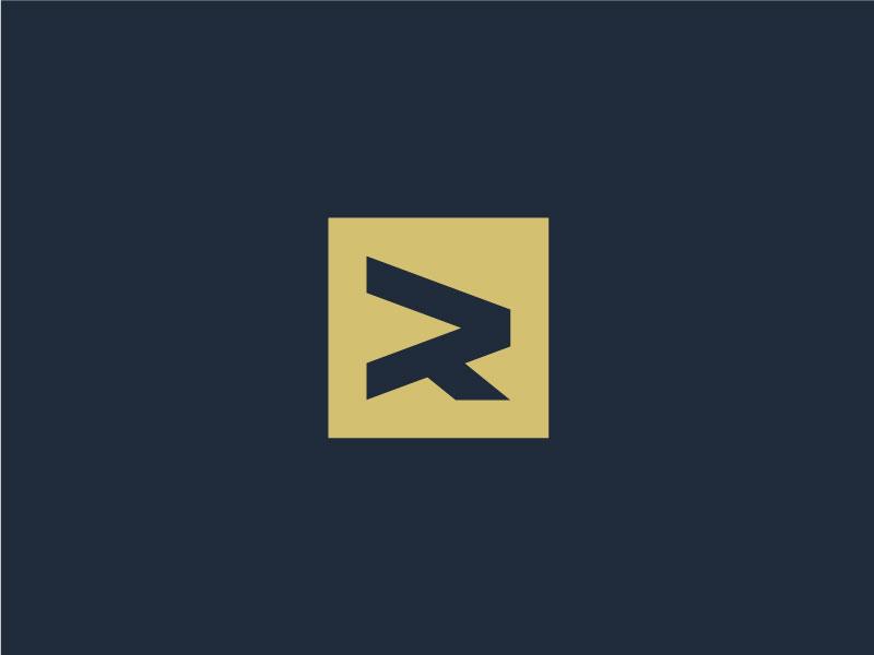 R word mark letter mark monogram exploration minimal simple logos logo symbol mark letter