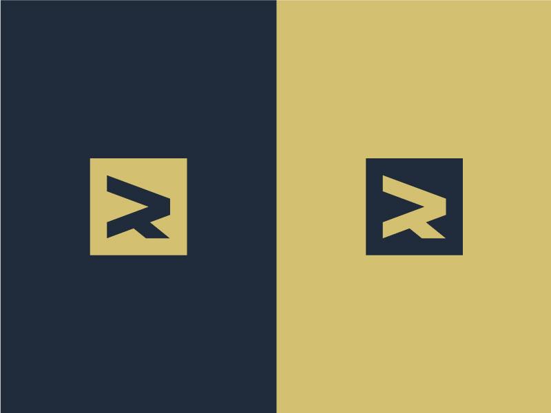 R Monogram word mark letter mark monogram exploration minimal simple logos logo symbol mark letter r