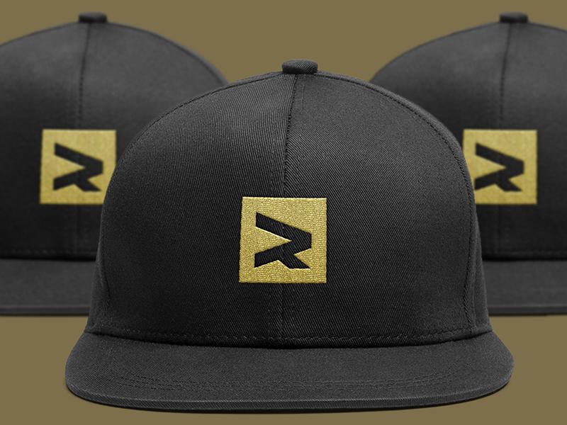 R Cap word mark letter mark cap monogram exploration minimal simple logos logo symbol mark r
