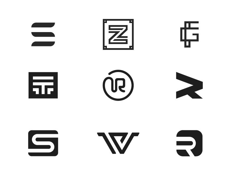 Monogram Collection letter mark set letter symbol mark logos logo collection monogram