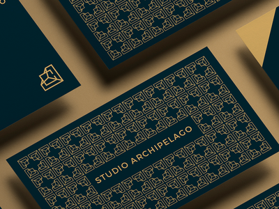Studio Archipelago Business Card business card interior design archipelago studio monogram architect elegant pattern card