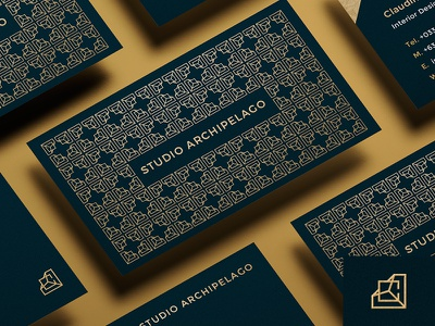 Studio Archipelago business card interior design monogram elegant branding