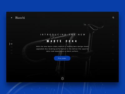 2044 – Binachi space ux flat web 2044 bianchi slider hero landing page ui branding