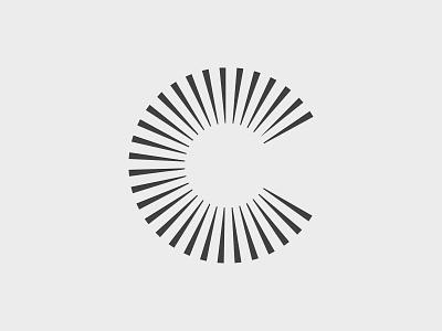 Cyberdelics Logomark typography type cyberdelics optical linear mark logo c letter clean branding