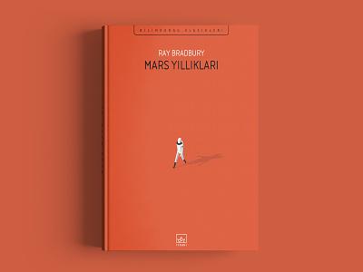 Martian Chronicles ithaki vector chronicles martian bradbury sci-fi flat cover book illustration