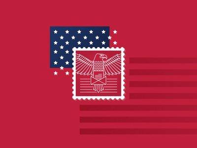 Postman Textured texture vector david brin sci-fi flat deconstruction american flag usa american book cover illustration