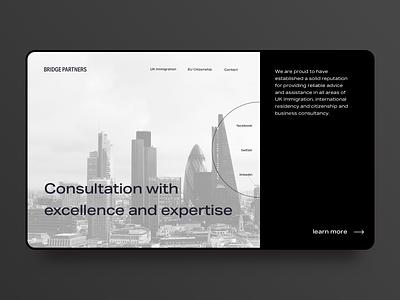 [J.01] Consultation Landing Page flat corporate consultation brutal website ux typography branding design ui web landing page concept