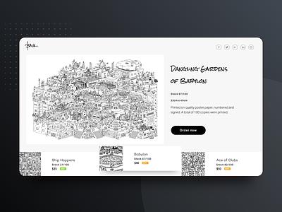 [J.03] Illustrator E-commerce leftover ux design concept web ui ecommerce landing page branding