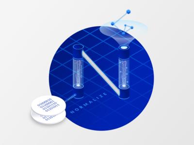 Isometric normalize data Illustration