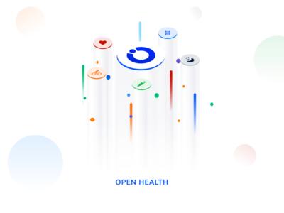 Illustration isometric for Open Health