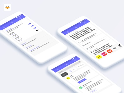 🐣 Duck Soup (v1) stories settings duck soup side project ux ui email newsletter android app