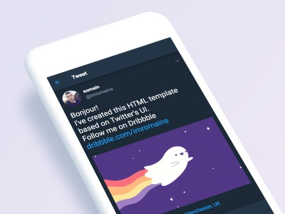 Individual tweet HTML template app android template twitter ui css html codepen