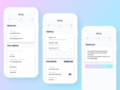 💳 Quick checkout form