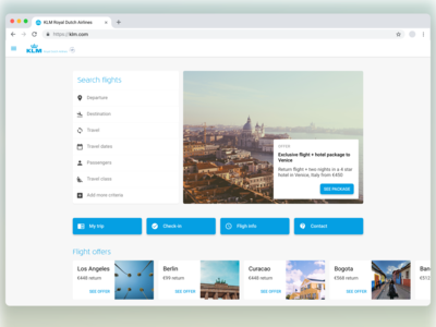 ✈️ KLM website redesign preview