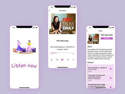 Podcast app ios musicapp music mobile mobiledesign iosapp ios app podcast podcastapp