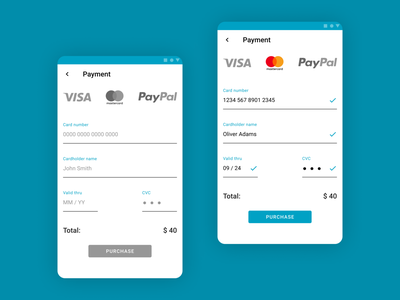 Credit Card Checkout - Daily UI 002 design daily ui designdailyui the credit card checkout daily ui 002 daily ui dailyui002 dailyui