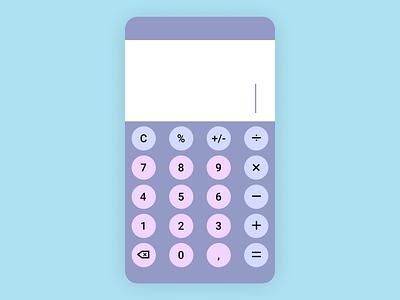 Calculator - Dailly UI 004 mobiledesign designcalcultor design calculator calculator daily ui 004 dailyui004 daily ui dailyui