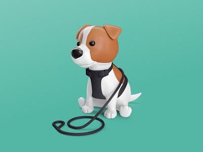Meet Pepe 3d icons branding branding design mascot icon 3d icon pupy dog puppy 3d illustration cinema4d design octane c4d hero character render illustration 3d art 3d branding