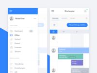 Productivity App - Menu and Calendar