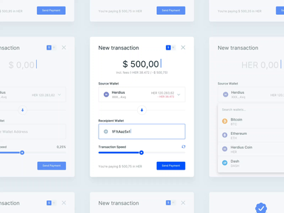 Cryptocurrency Payment Flow wallet crypto dashboard herdius mac app cryptocurrency crypto blockchain bitcoin user interface flow transaction crypto exchange crypto currency dashboard app ux payment banking ui finance