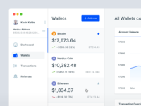 Cryptocurrency App - Wallet Overview