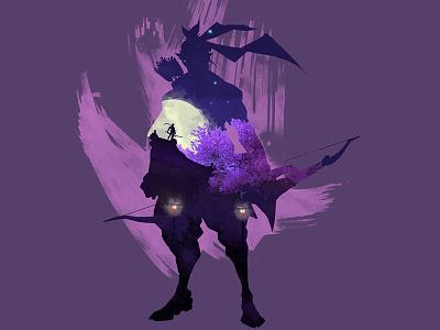 Hanzo geni dragon vector watercolor hanzo overwatch