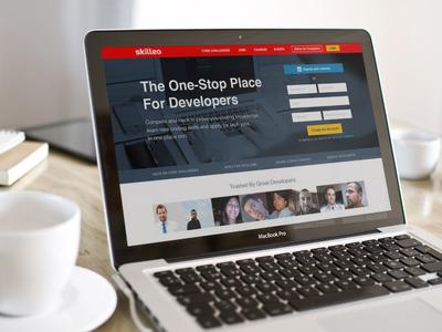 Skilleo Homepage (Developer's version) developers coding saas website software