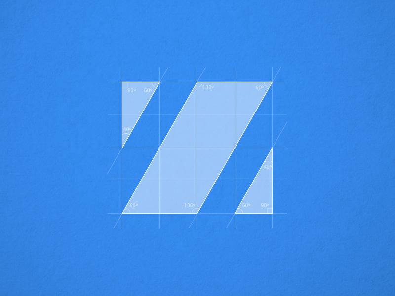 Z Blueprint wireframe logotype icon logo sketch blueprint typeface letter z