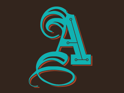 Completed Letter - A ibmchainletter letterforms typography experiments typeface drop cap