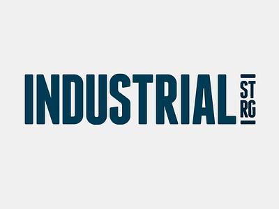 Old Killed Logo: Industrial Strength Gym mark sport gym killed branding logo