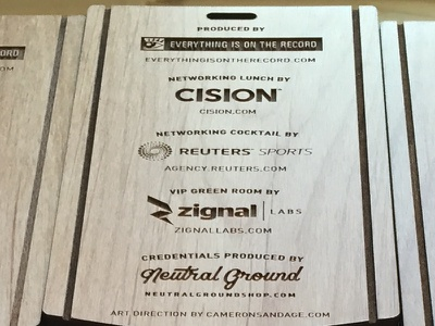 Playing with Laser pt. 2 laser engraved product credentials events sponsors wood laser cutting