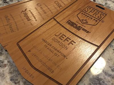Final Laser Etched Credentials sponsors product laser engraved laser cutting events design etched wood laser credentials