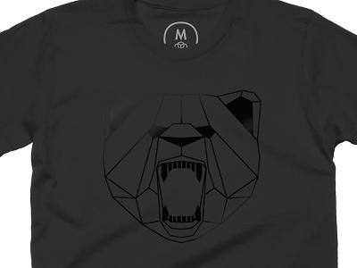 Rooooaaaaaarrrrrr cotton bureau geometric bear clothing illustration design tee tshirt