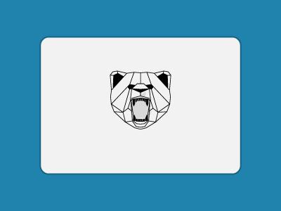 Geometric Bear Sticker Mule Transfer lines black geometric bear sticker