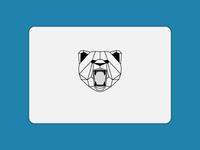 Geometric Bear Sticker Mule Transfer