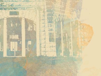 Home Poster (Final?) texture digital illustration print poster image riso watercolors