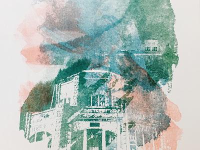 Print Exchange :: Home Final Print print gorge oregon print exchange texture watercolor halftone riso poster
