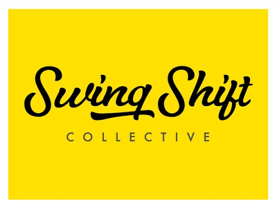 Swing Shift Collective swing shift collective yellow typography studio design logo branding