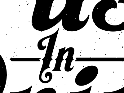 A thing for a thing shop rag print lettering texture text typography