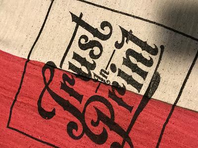 Final Afterhours Shop Rag design show screen printing texture type lettering shop rag screenprint