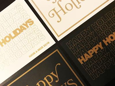 2017 Holiday Card 2017 printing riso gold text holiday holiday card