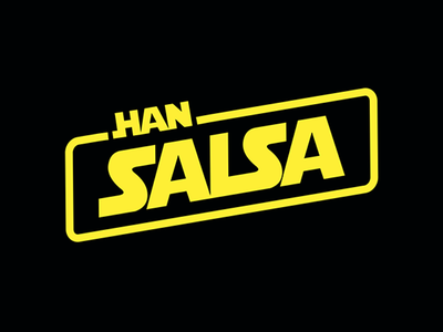 Han Salsa branding logo jokes type lettering salsa star wars may 4