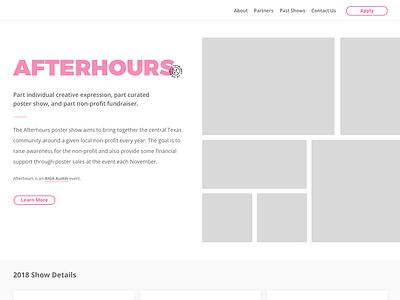 Afterhours 2018 Website Re-Design aiga austin aiga poster show event ui website afterhours afterhoursatx