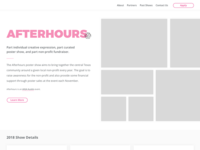Afterhours 2018 Website Re-Design